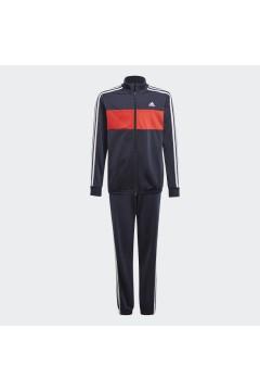 Adidas GN3972 Tuta Completa Bambino Nero Rosso  Abbigliamento Bambino GN3972