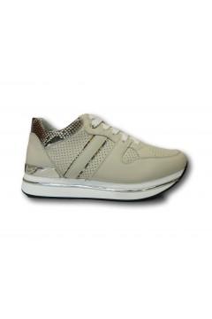 KEYS K 4351 Scarpe Donna Sneakers Stringate Platform Beige Francesine e Sneakers K4351BEI