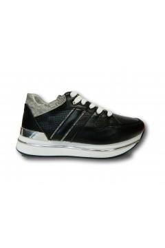 KEYS K 4351 Scarpe Donna Sneakers Stringate Platform Nero Francesine e Sneakers K4351NR