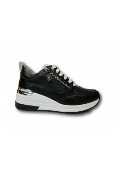 KEYS K 4150 Scarpe Donna Sneakers Stringate con Zeppa Media Nero Francesine e Sneakers K4150NR