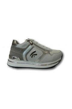 KEYS K 4350 Scarpe Donna Sneakers Stringate Platform Bianco Francesine e Sneakers K4350BIA