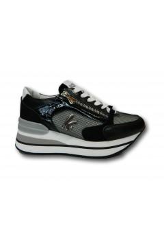 KEYS K 4501 Scarpe Donna Sneakers Stringate Platform Nero Francesine e Sneakers K4501NR