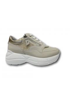 KEYS K 4200 Scarpe Donna Sneakers Volume Stringate Beige Francesine e Sneakers K4200BEI