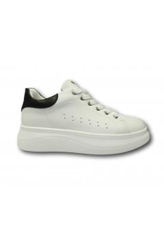 Inblu IN252 Scarpe Donna Sneakers Platform Stringate Bianco Nero Francesine e Sneakers IN252BNR