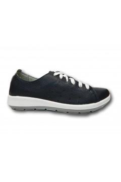 Inblu WG 18 Panto Scarpe Donna Stringate Vera Pelle Extra Soft Blu Francesine e Sneakers WG18BLU