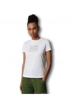 Napapijri NA4FAI Seoll T-Shirt Donna Cotone Bianco T-Shirt NA4FAI0021