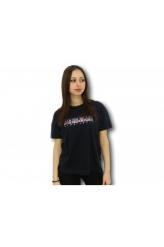 Napapijri NA4FAF Silea T-Shirt Donna Cotone Blu Notte Pink T-Shirt & Top NA4FAF1761