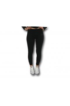 Converse 10022595 All Star Womens Classic Rib Pants Nero Abbigliamento Sportivo 10022595A02