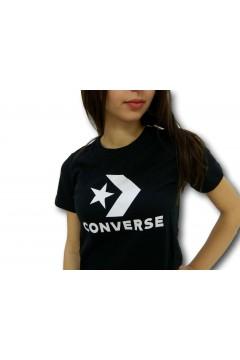 Converse 10018569 Tshirt Donna Star Chevron Nero T-Shirt & Top 10018569A02