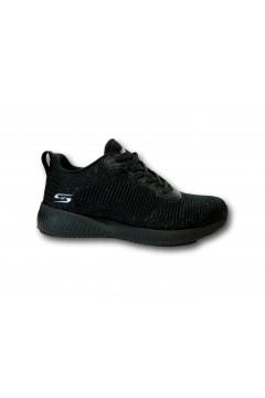 SKECHERS Bobs Squad 32502 Total Glam Memory Foam Nero Francesine e Sneakers 32502BKSL