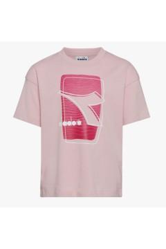 Diadora 102.177118 JU T-shirt SS Elemets Junior Unisex Rosa  Abbigliamento Bambino 10217711850194