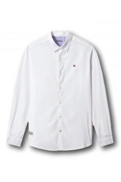 Napapijri NA4F85 Camicia Manica Lunga Ging Bianco Polo e Camicie NA4F85