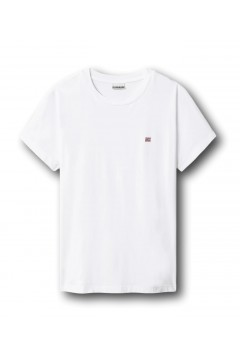 Napapijri NA4FAC Salis Woman T-Shirt Donna in Cotone Bianco T-Shirt NA4FAC0021