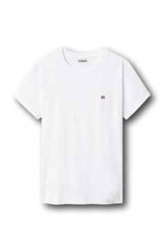 Napapijri NA4FAC Salis Woman T-Shirt Donna in Cotone Bianco T-Shirt & Top NA4FAC0021