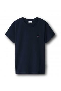 Napapijri NA4FAC Salis Woman T-Shirt Donna in Cotone Blu T-Shirt & Top NA4FAC1761