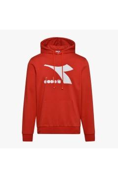 Diadora 102.177089 Hoodie Big Logo Felpa Uomo con Cappuccio Lava Red Felpe e Maglie 102.17708945026