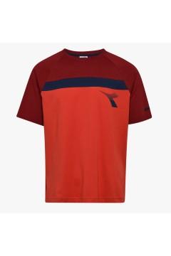 Diadora 102.177063 SS T-SHIRT Diadora Club Uomo Rosso T-Shirts 10217706345026