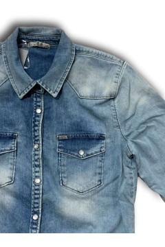 LTB 60474 Lucinda Reeta X Undamaged Wash Camicia di Jeans Light Denim T-Shirt & Top LTB60474LD
