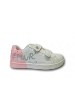 Beppi 2170290 Scarpe Bambina Sneakers Doppi Strappi Bianco Rosa Scarpe Bambina B2170290