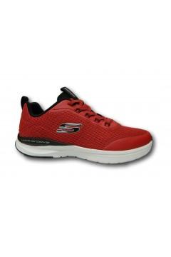 SKECHERS 232031 RDBK Live Session Sneakers Uomo Slip On Memory Foam Rosso Scarpe Sport 232031RDBK