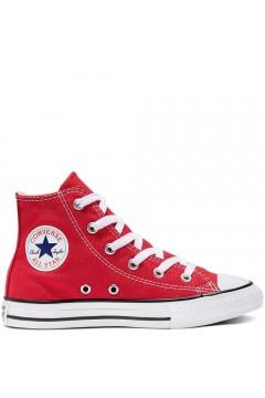 Converse 3J232C Chuck Taylor Sneakers Low Bimba Canvas Rosso Scarpe Bambina 3J232C