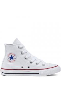 Converse 3J253C Chuck Taylor All Star Classic Unisex Sneakers Mid Canvas Bianco Scarpe Bambina 3J253C