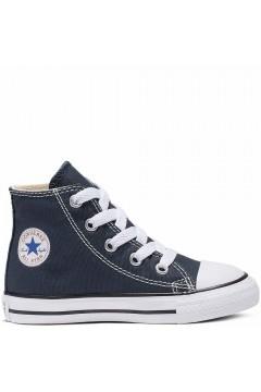 Converse 7J233C All Star Chuck Taylor Classic Unisex Sneakers Mid Canvas Blu Scarpe Bambina 7J233C