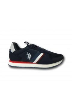 U. S. Polo Assn. NOBIL115 Scarpe Uomo Sneakers Stringate Blu Sneakers NOBIL115DKBL