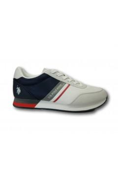 U. S. Polo Assn. Brandon 2 Scarpe Uomo Sneakers Stringate White Blu Sneakers BRANDON2WHBL