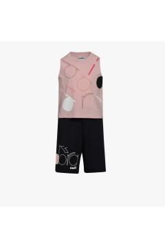Diadora 102.177140 JG Set SL Logo Mania Junior Bambina Rosa Abbigliamento Bambina 10217714050194