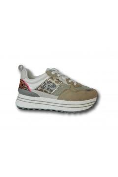 Gold & Gold GB36 Scarpe Donna Sneakers Platform Stringate Beige Francesine e Sneakers GB36BG
