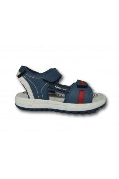 Geox J S. ALBEN J02AVC Sandali Bambino Doppi Strappi Blu Scarpe Bambino J02AVC0BCBUC4327BLU