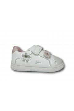 Geox B DJROCK B151WC Sneakers Bambina Primi Passi Doppi Strappi Bianco Scarpe Bambina B151WC08554C1000BIA