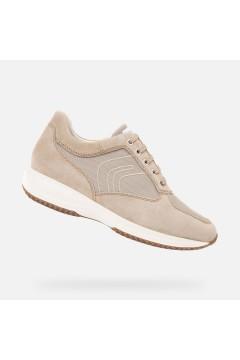 GEOX U HAPPY G U4162G Scarpe Uomo Sneakers Stringate Camoscio Tela Sabbia Sneakers U4162G02211C5004SBB