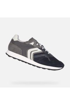 Geox U VINCIT A U155VA Sneakers Uomo Stringate Blu Grigio Sneakers U155VA0PTFUC0661BLUGR