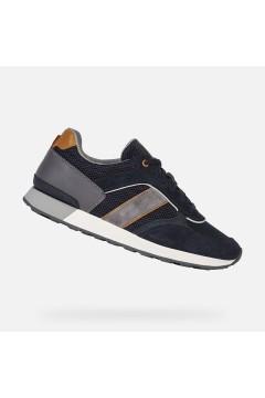Geox U FIDENZA D U15BND Sneakers Uomo Stringate Blu Arancione Sneakers U15BND02214CF47RBLU