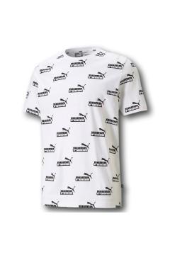 Puma 585789 Amplified T-shirt Uomo Stampa Logo Mezza Manica Bianco T-Shirts 58578902