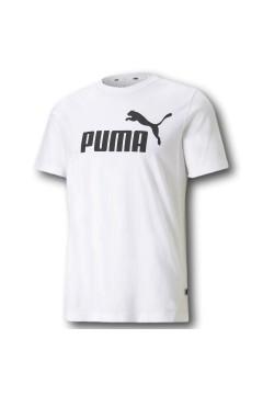 Puma 586666 Essential T-shirt Uomo con Logo Mezza Manica Bianco T-Shirts 58666602