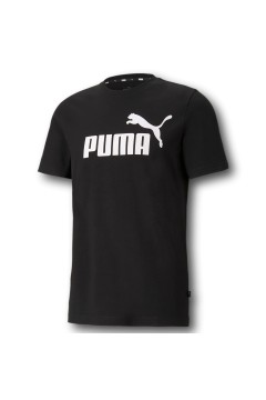 Puma 586666 Essential T-shirt Uomo con Logo Mezza Manica Nero T-Shirts 58666601