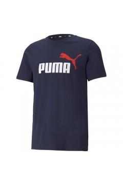 Puma 586759 Essential T-shirt Uomo con Logo Mezza Manica Blu T-Shirts 58675906