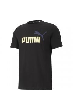Puma 586759 Essential T-shirt Uomo con Logo Mezza Manica Nero T-Shirts 58675901