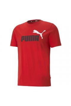Puma 586759 Essential T-shirt Uomo con Logo Mezza Manica Rosso T-Shirts 58675911