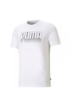 Puma 587763 Graphics T-shirt Uomo Mezza Manica con Logo Tridimensionale Bianco T-Shirts 58776302