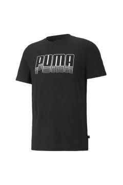 Puma 587763 Graphics T-shirt Uomo Mezza Manica con Logo Tridimensionale Nero T-Shirts 58776301