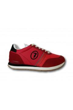 Trussardi 77A00342 SNK FREDDY MIX Sneakers Uomo Stringate Rosso Sneakers 77A00342FREDDYRSS