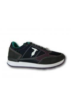 Trussardi 77A00352 SNK FAST MIX Sneakers Uomo Stringate Blu Sneakers 77A00352FASTBLU