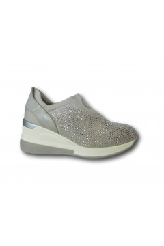 Gold & Gold GB30 Scarpe Donna Sneakers Slip On Strass Grigio Francesine e Sneakers GB30GRI