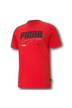 Puma 585738 Rebel T-shirt Uomo con Logo Mezza Manica Rosso T-Shirts 58573811