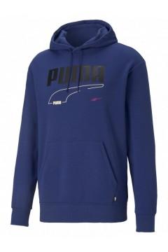 Puma 585742 Rebel Hoodie Puma Felpa Uomo Elektro Blu Felpe e Maglie 58574284