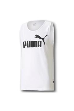 Puma 586670 Essential Tank T-shirt Uomo con Logo Smanicato Bianco T-Shirts 58667002